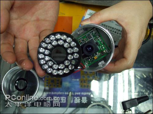 监控摄像头结构拆解