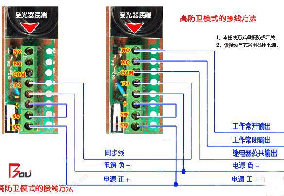 红外防盗栅栏的安装和接线方法
