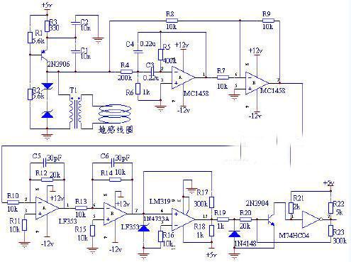 动态车辆检测电路原理图