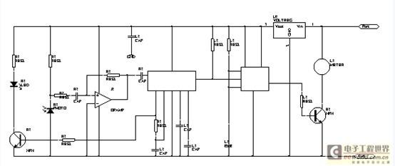 它由红外线发射电路,红外线接收电路,放大及频率译码电路,单稳态延时